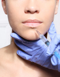 botox applied to lips