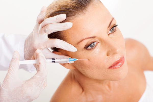 nurse injecting botox