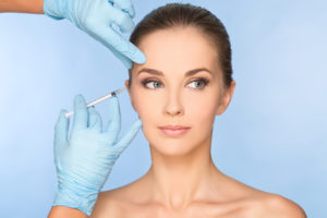 hands on botox injection