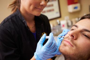 Man Having Botox Injections