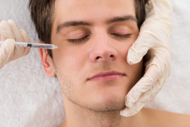 Man Receiving Botox Injection