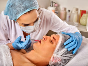 Filler injection for male forehead